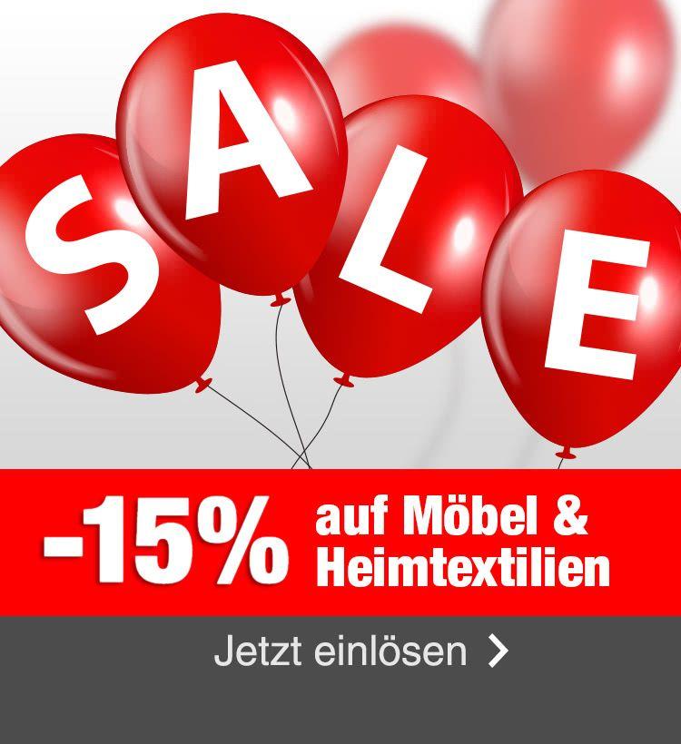 [Quelle.de] 15% Rabatt auf Möbel und Heimtextilien