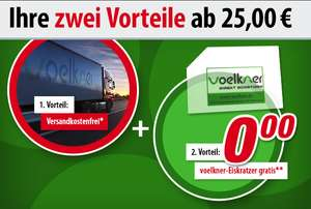 [Voelkner] 2 Neujahrsvorteile geschenkt: Versandkostenfrei + gratis Eiskratzer ab 25€ Mindestbestellwert