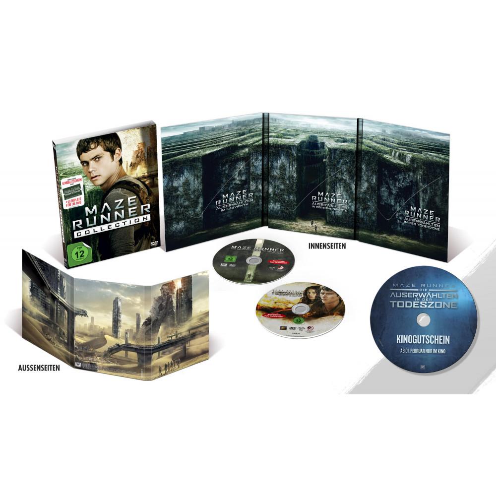 Maze Runner Collection Teil 1+2 DVD (inkl. Kinogutschein für Teil 3) @ Müller