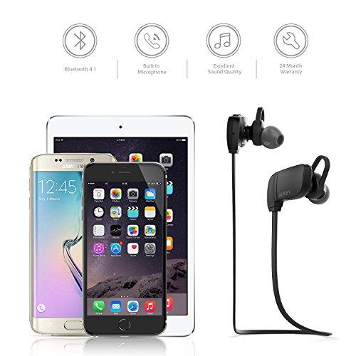 AUKEY Sport Kopfhörer Bluetooth 4.1 in Ear Wireless Headset mit Mikrofon und Fernedienung