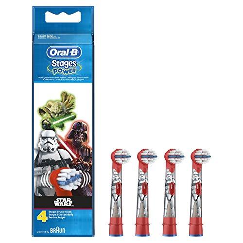 [Amazon Prime/SparAbo] Oral-B Stages Power Kids Aufsteckbürsten, versch. Designs, 4 Stück (Sparabo möglich)