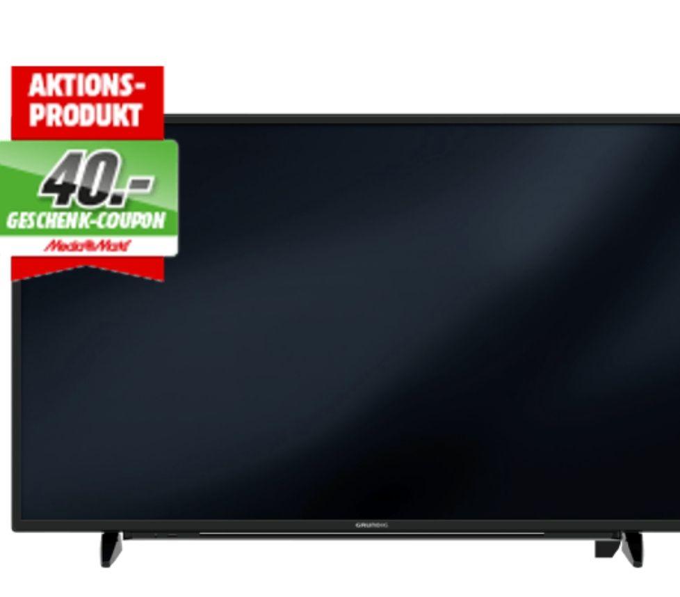 GRUNDIG 55 GUB 8852 LED TV (Flat, 55 Zoll, UHD 4K, SMART TV) + 40€ Geschenk Coupon