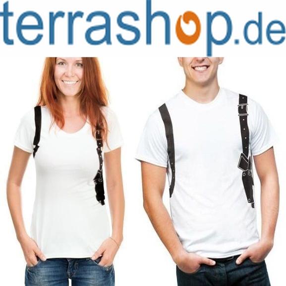 "T-Shirt ""Halfter Krimiwelt"" für 0,99€ VSK-frei @ terrashop"