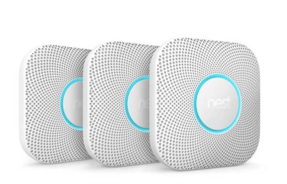 Nest Protect Rauch- und Kohlenmonoxidmelder, 2. Generation, 3-er Pack (nur für Vattenfall-Kunden)