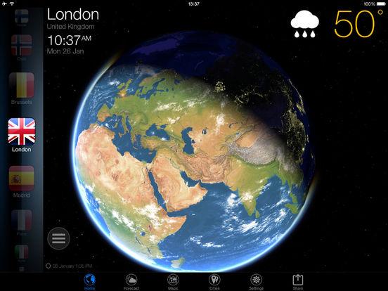 3D Earth - Wetter Widget kostenlos statt 4,99€ [iOS]