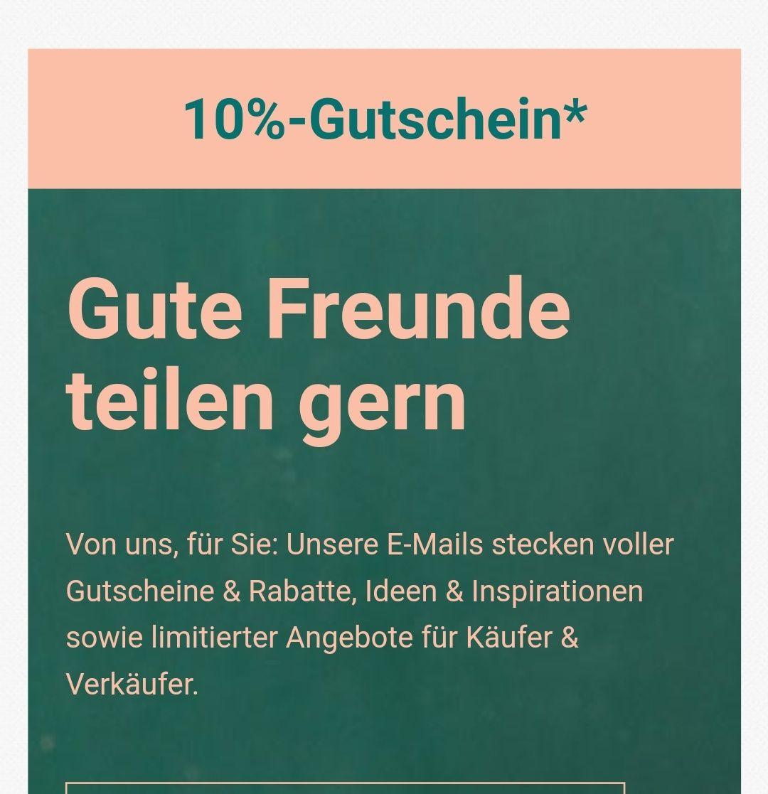 10% Gutschein für eBay Newsletter Anmeldung