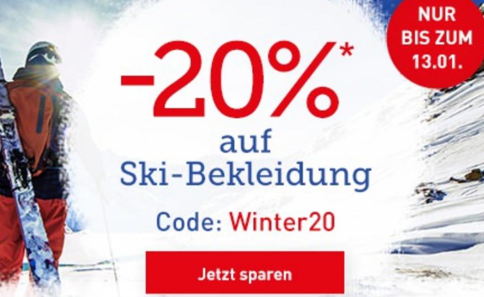 [Dodenhof] 20% auf Skibekleidung