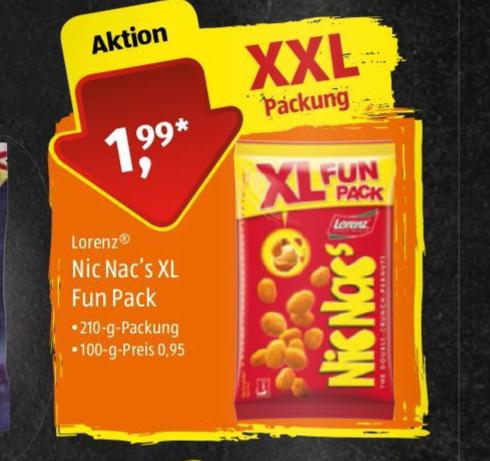 [ALDI] Nic Nacs XXL Packung - Wochenend-Aktion (FR+SA)