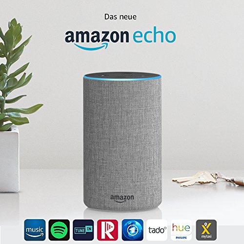 Das neue Amazon Echo (2. Generation), Hellgrau Stoff / Anthrazit Stoff / Sandstein Stoff