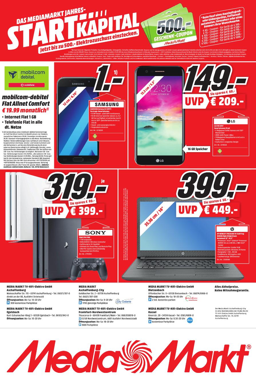 [Lokal] Mediamarkt Playstation 4 Pro 1 TB - Kassel, Aschaffenburg, Frankfurt, Egelsbach, Dietzenbach