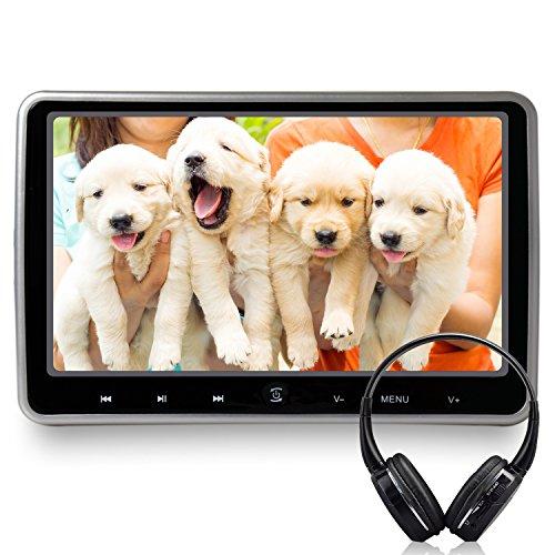 10,1 Zoll DVD-/Media-Player fürs Auto mit FM-Transmitter und Kopfhörer