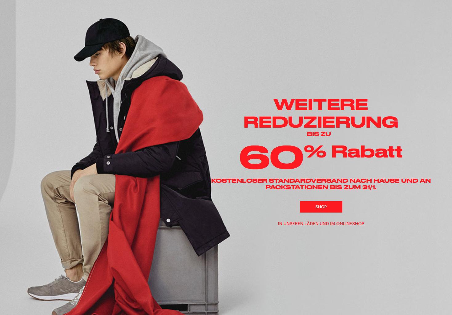 Pull&Bear zweiter Winter Sale bis zu 60% Rabatt + kostenloser Versand bis 31/1