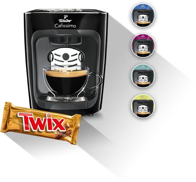 Tchibo Cafissimo Mini + Probierset mit 8 Kapseln für 39,00€ durch Kauf einer Aktionspackung Twix