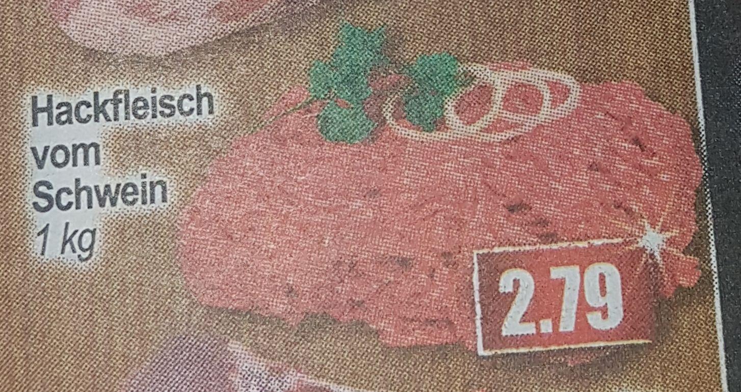[Mix-Markt]1kg Hackfleisch vom Schwein