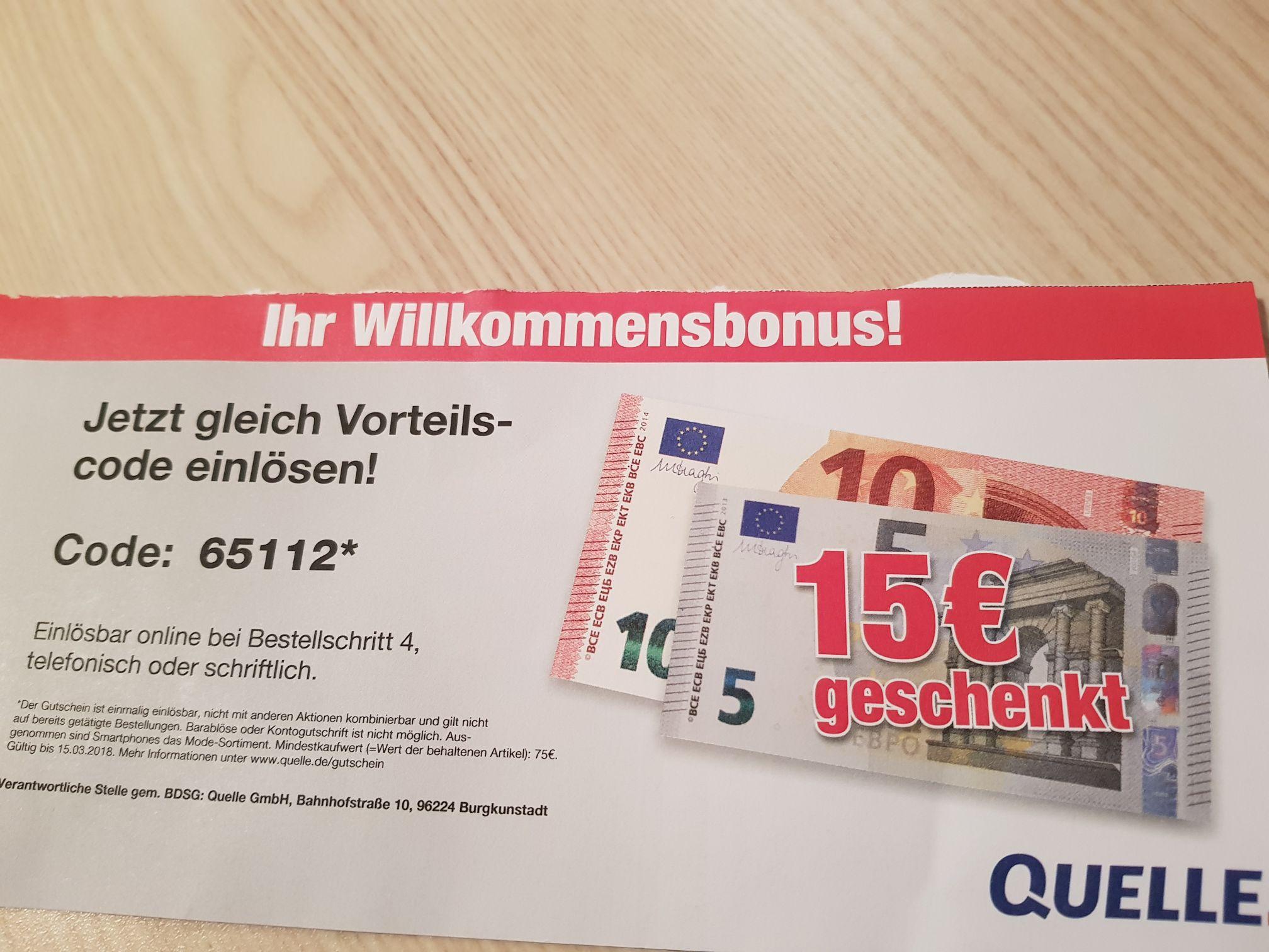 15 EUR Rabatt auf alles (außer Smartphones & Mode) / MBW 75 EUR