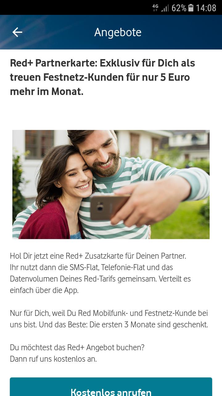 Vodafone Partnerkarte für 5€ mtl. (ausgewälte Bestandskunden)
