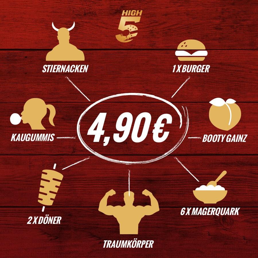 6 Mon. High 5 Gym Mitgliedschaft für 4,90€ im Monat bis zum 31.1.18 (24 Mon)