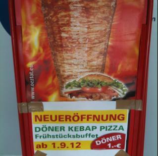 Döner 1€ im Köwe Center Regensburg am 01.09.