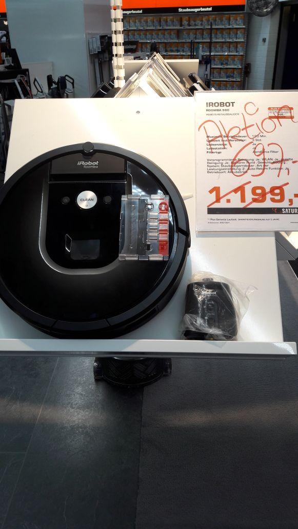 [Lokal Hannover] iRobot Saugroboter Roomba 980 für nur 697€