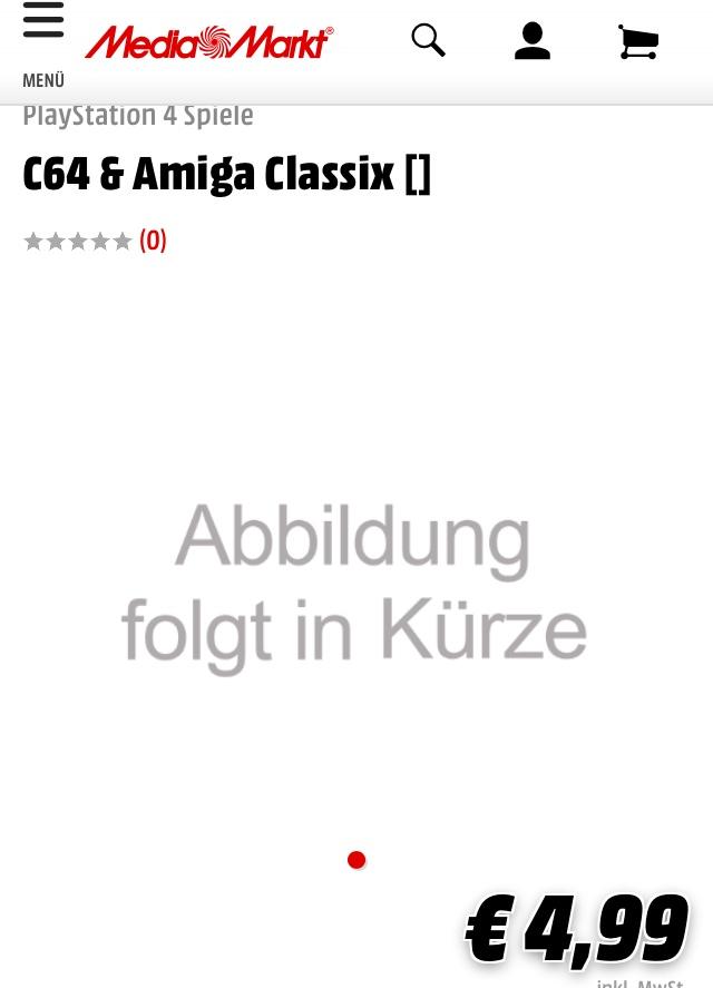 C64 & Amiga Classix für PS4?! Für 4,99€