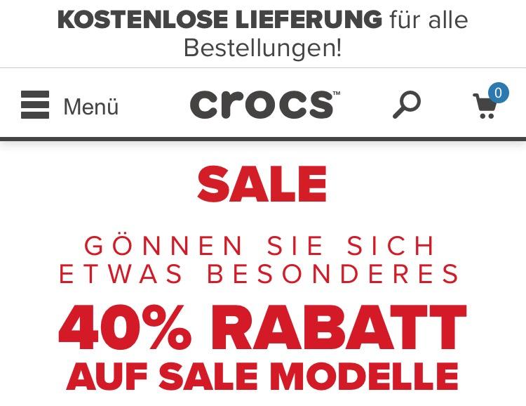 Crocs Sale 40% auf Sale Modelle +30% bei MBW 55€