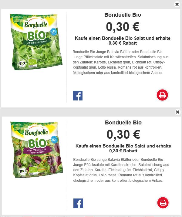 Bonduelle Bio Salat Coupon 0,30€