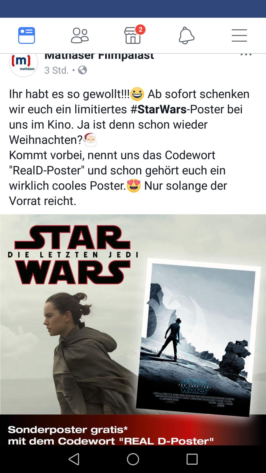 [lokal München] Star wars Poster gratis @ Mathaeser Kino