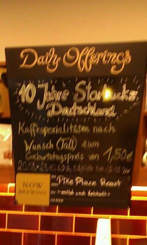 (deutschlandweit oder lokal? Bremen Hbf) Starbucks Caffee tall bis zum 28.08. für 1,50€ bis 12 Uhr