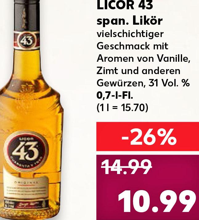 Licor 43 für nur 10,99€ und der Absolut Vodka für 9,99€ @Kaufland