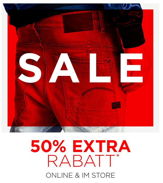 50% Extra Rabatt bei G-Star Outlet (Online und im Store)