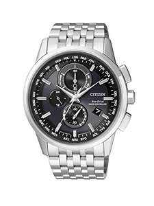 Citizen Eco Drive Herrenchronograph Durchmesser 43 mm Solar + Funk  Edelstahl AT8110-61E