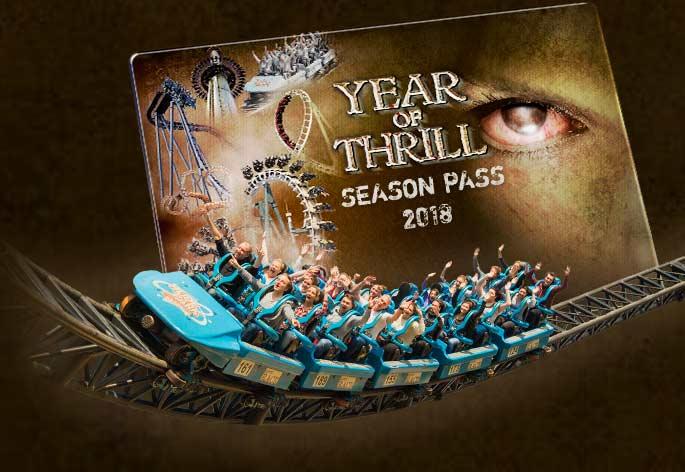 """""""Year of Thrill"""": Heide Park Soltau verwandelt die Tageskarte zur Jahreskarte 2018"""
