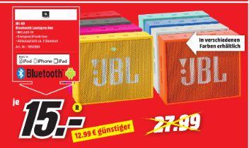 [Regional Mediamarkt Osnabrück-Belm] JBL Go mobiler Bluetooth-Lautsprecher Freisprechfunktion alle Farben für je 15,-€