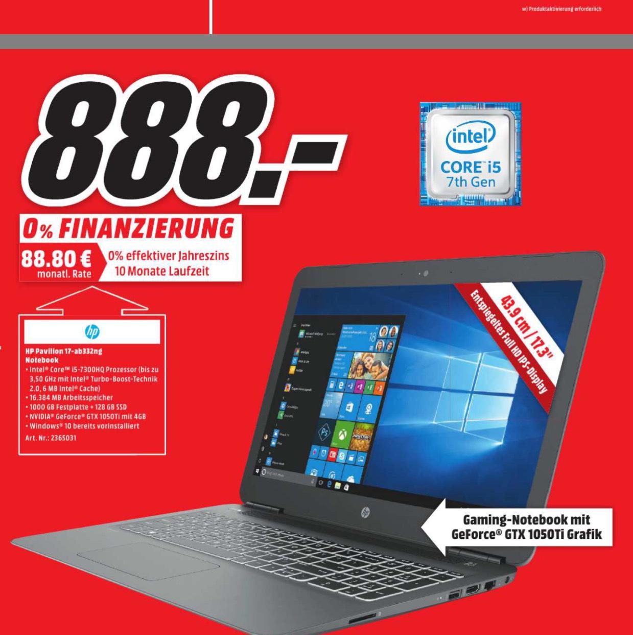 Gaming-Notebook HP 17-ab332ng nur bei MediaMarkt in Berlin & Brandenburg