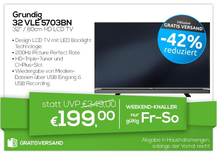 """0815 Weekendknaller - Grundig 32"""" HD LCD TV - 32"""