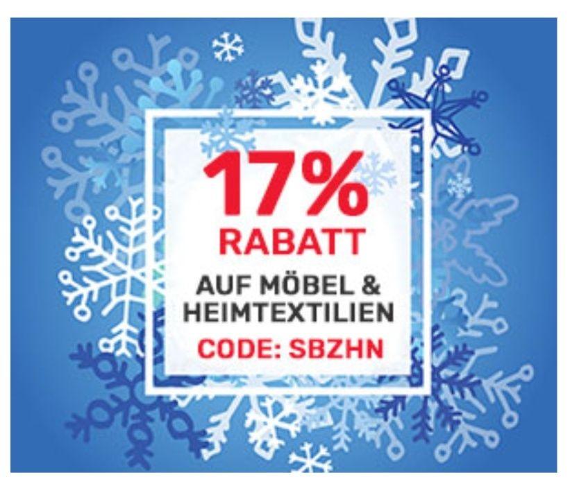 17% Rabatt auf Möbel & Heimtextilien bei Neckermann