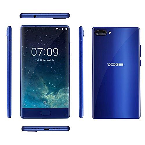 AMAZON Blitzangebot -Doogee MIX 13,97 cm (5,5 Zoll) Smartphone (6GB RAM 64GB ROM Android 7.0 4G Helio P25 Octa-Kern 2,5 GHz Metallgehäuse Berührungssensor Front- und Doppel Rückkameras) Blau