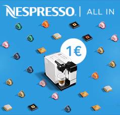 Nespresso Maschine Inissia, Inissia & Milk oder Latissima Touch für 1 € via Nespresso ALL IN Abo