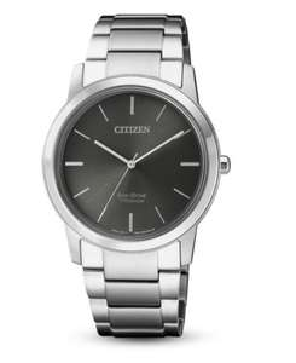 CITIZEN Eco Drive FE7020-85H Super Titanium Damenuhr Metallband graues Zifferblatt