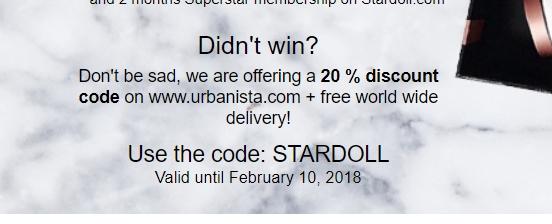 20% Rabatt bei URBANISTA (+ gratis Versand)