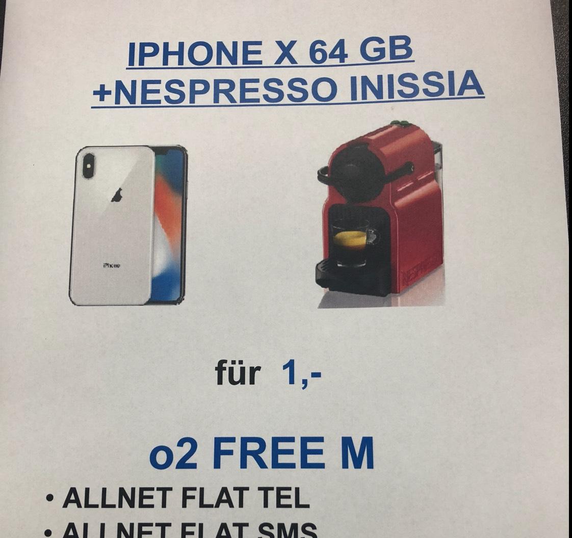 iPhone X + Nespresso Inissia