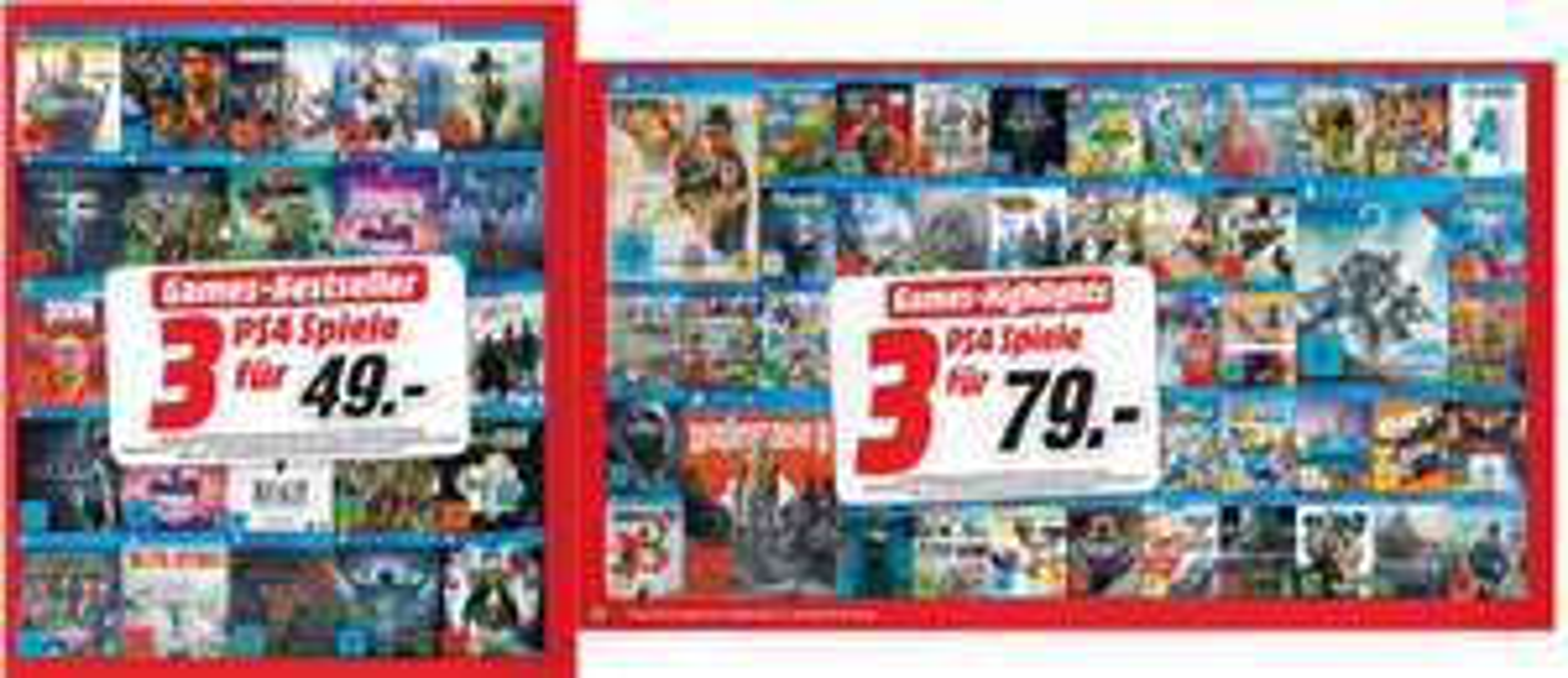 Multibuy-Aktionen // 3 Spiele für 49,-€ oder 3 Spiele für 79,-€ (PS4,XB1,PC,Nintendo) **Zudem 5 Blu-Rays für 25,-€** [Mediamarkt]