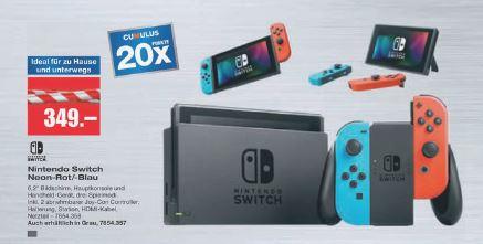 [Schweiz] Nintendo Switch mit 20x Cumulus Punkte bei melectronics.ch
