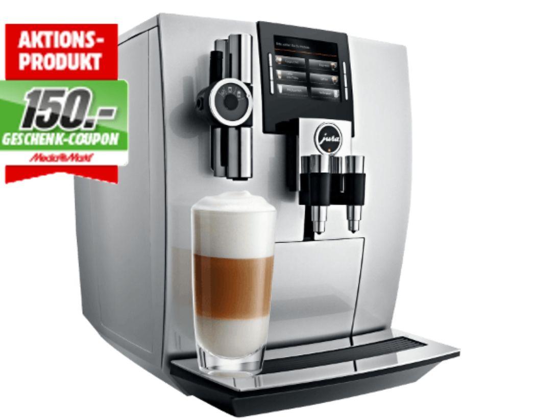 JURA 15038 J90 Kaffeevollautomat Brillantsilber + 150€ Geschenk Coupon