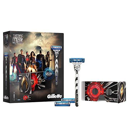 [AMAZON PRIME] Gillette Mach3 Turbo Rasierer Geschenkset Justice League Limited Edition + 2 Ersatzklingen + Exklusives VR-Headset