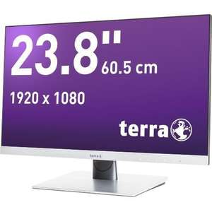 Wortmann Terra 2462W 23,8 Zoll Full HD Monitor, A-MVA, 4ms, HDMI, DVI-I, Displayport, matt, silber