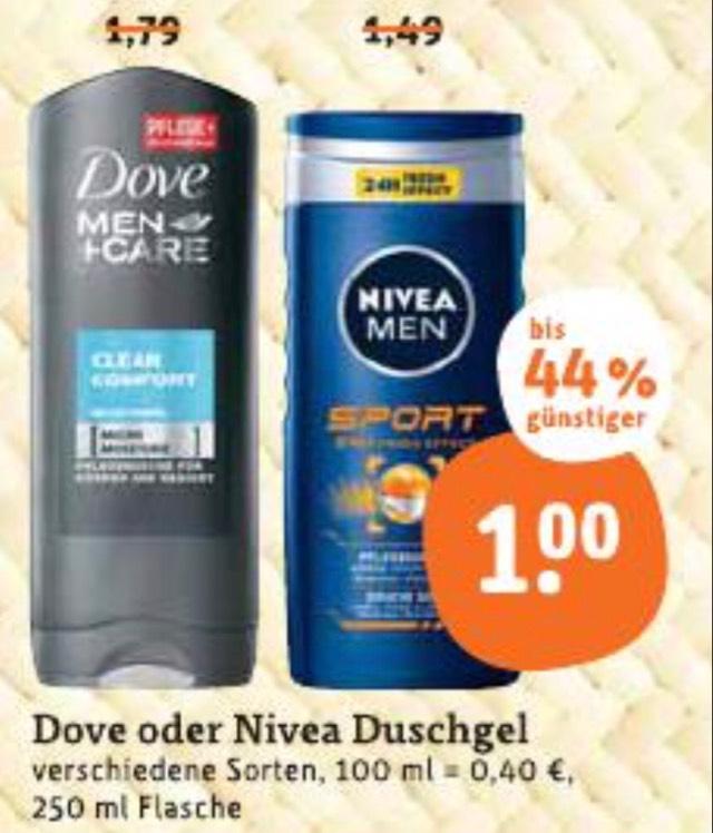 6x Dove Duschgel (versch. Sorten) für je -,66€ bei tegut…