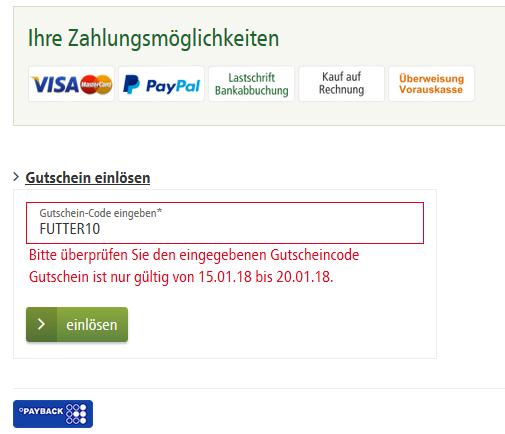 ab dem 15.01. im Fressnapf-Onlineshop: 10%-Rabatt für Tierfutter, AUCH FÜR BESTANDSKUNDEN