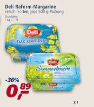 """Deli Reform """"Das Original"""" Margarine bei Real   /  minus Scondoo Gutschrift von 0,50 Euro"""
