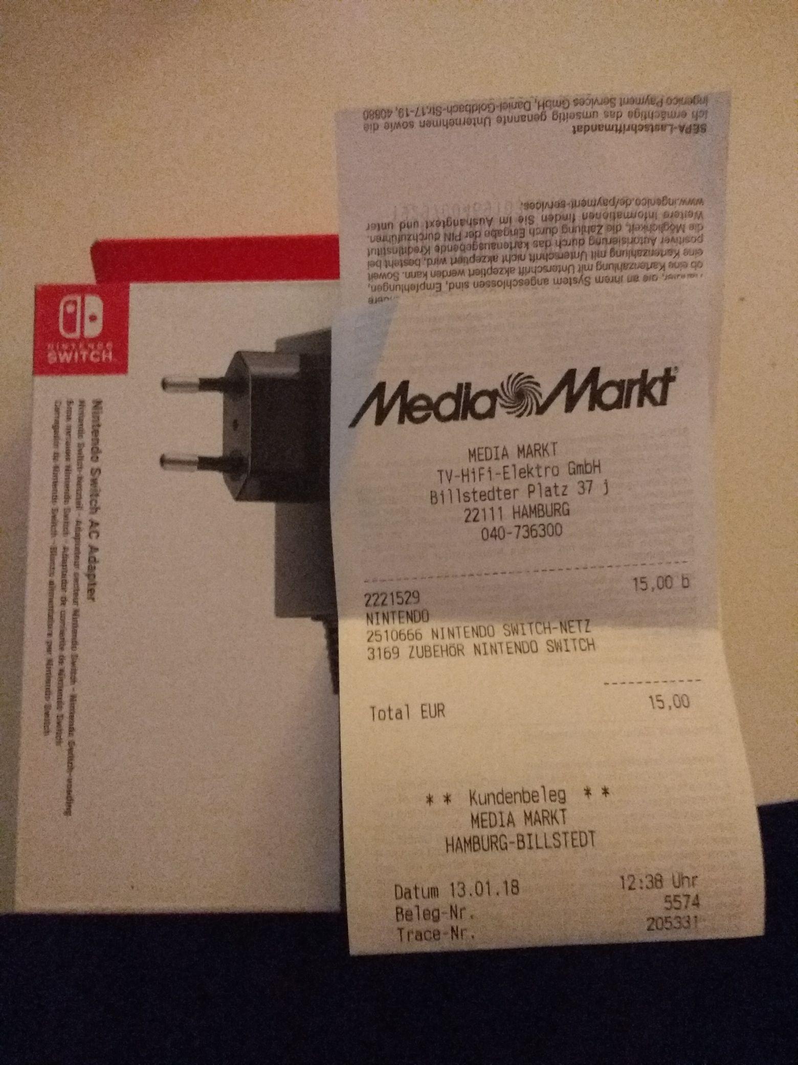 Original Nintendo Switch Netzteil evtl. Lokal